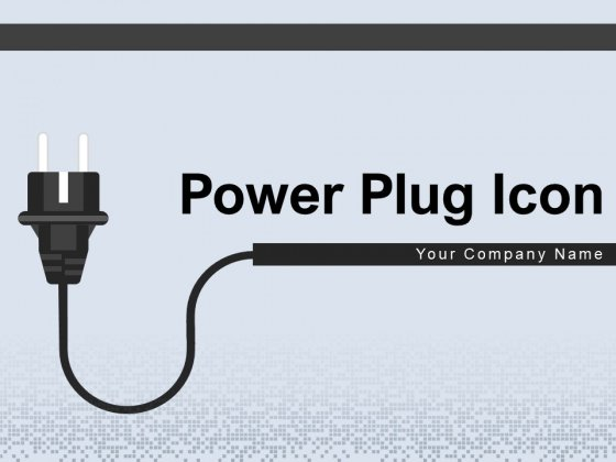 Power Plug Icon Charging Station Power Socket Ppt PowerPoint Presentation Complete Deck