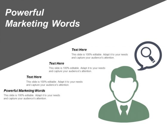 Powerful Marketing Words Ppt PowerPoint Presentation Gallery Elements Cpb