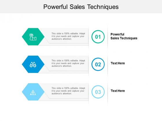 Powerful Sales Techniques Ppt PowerPoint Presentation Infographics Ideas Cpb