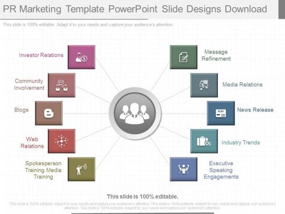 Pr Marketing Template Powerpoint Slide Designs Download