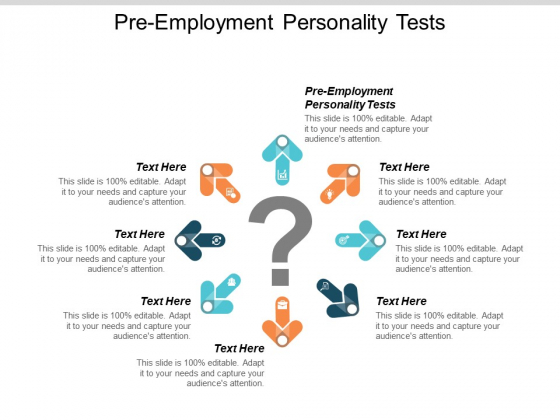 Pre Employment Personality Tests Ppt PowerPoint Presentation Professional Clipart Cpb