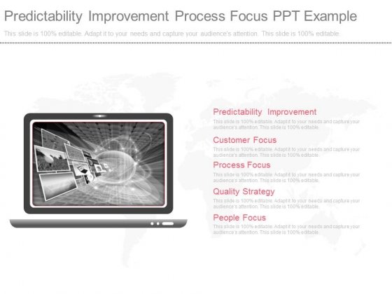 Predictability Improvement Process Focus Ppt Example
