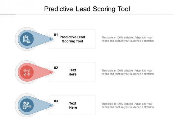 Predictive Lead Scoring Tool Ppt PowerPoint Presentation Inspiration Slide Cpb