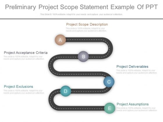 preliminary project scope statement example of ppt powerpoint templates