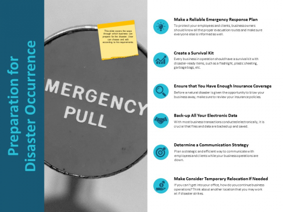 Preparation For Disaster Occurrence Ppt PowerPoint Presentation Outline Microsoft