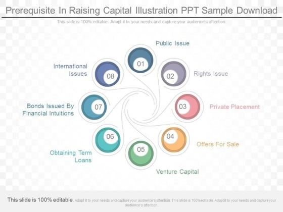 prerequisite in raising capital illustration ppt sample download