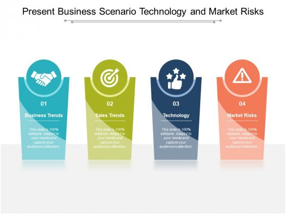 Present Business Scenario Technology And Market Risks Ppt Powerpoint Presentation Ideas Deck