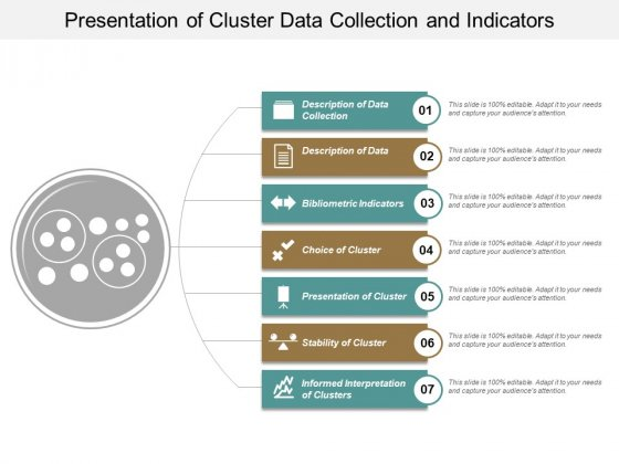 Presentation Of Cluster Data Collection And Indicators Ppt PowerPoint Presentation Model Structure