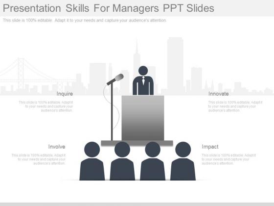 Presentation Skills For Managers Ppt Slides