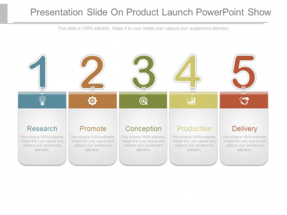 Presentation Slide On Product Launch Powerpoint Show