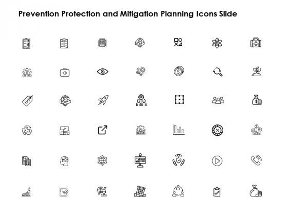 Prevention Protection And Mitigation Planning Icons Slide Growth Vision Ppt PowerPoint Presentation Pictures Clipart Images