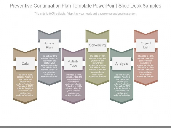 Preventive Continuation Plan Template Powerpoint Slide Deck