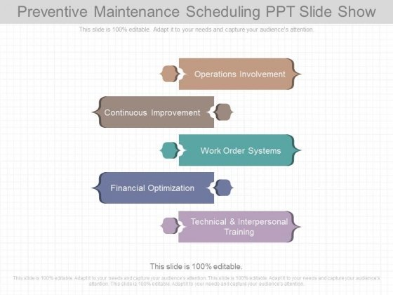 Preventive Maintenance Scheduling Ppt Slide Show - PowerPoint Templates