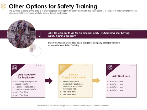 Preventive Measures Workplace Other Options For Safety Training Ppt Inspiration Diagrams PDF