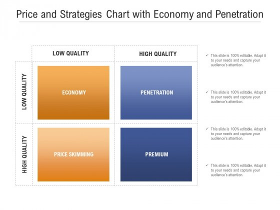 Price And Strategies Chart With Economy And Penetration Ppt PowerPoint Presentation Gallery Example PDF