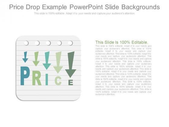 Price Drop Example Powerpoint Slide Backgrounds
