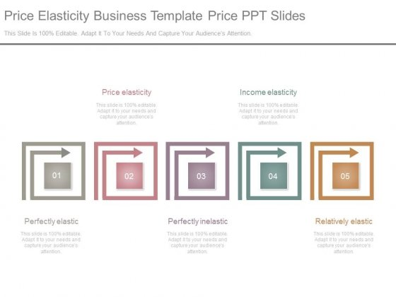 Price Elasticity Business Template Price Ppt Slides