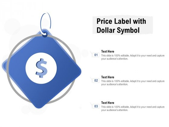 Price Label With Dollar Symbol Ppt PowerPoint Presentation Inspiration Template PDF