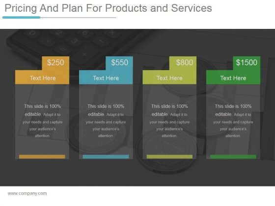 Pricing And Plan For Products And Services Ppt PowerPoint Presentation Themes
