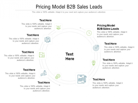 Pricing Model B2B Sales Leads Ppt PowerPoint Presentation Ideas Slideshow Cpb Pdf