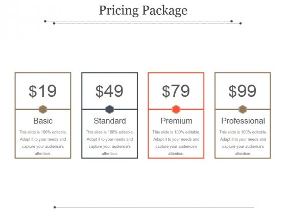 Pricing Package Ppt PowerPoint Presentation Guide
