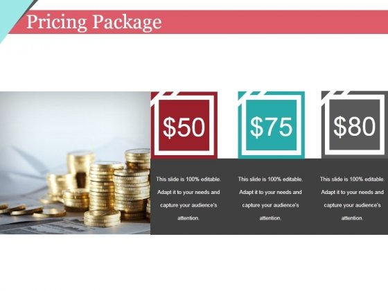 Pricing Package Ppt PowerPoint Presentation Pictures Templates