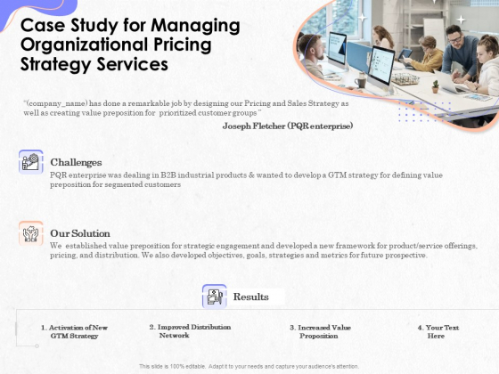 Pricing Profitability Management Case Study For Managing Organizational Pricing Strategy Services Microsoft PDF