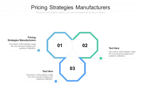 Pricing Strategies Manufacturers Ppt PowerPoint Presentation Gallery Templates Cpb