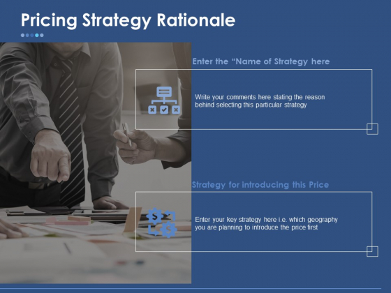 Pricing Strategy Rationale Ppt PowerPoint Presentation Icon Show
