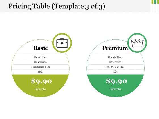 Pricing Table Template 3 Ppt PowerPoint Presentation File Slides