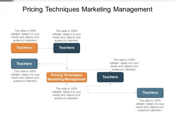 Pricing Techniques Marketing Management Ppt PowerPoint Presentation Layouts Slide Cpb Pdf