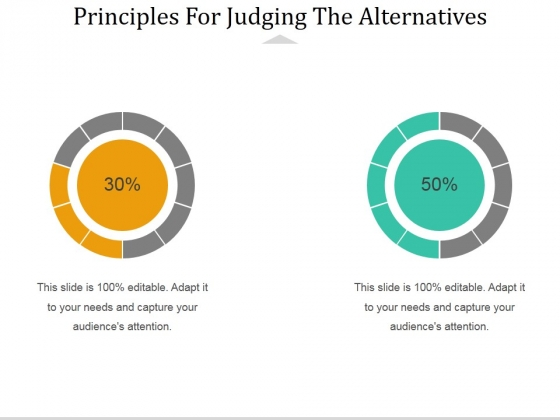 Principles For Judging The Alternatives Ppt PowerPoint Presentation Layouts Graphic Tips