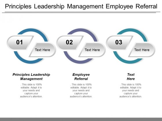 Principles Leadership Management Employee Referral Ppt PowerPoint Presentation Diagram Images