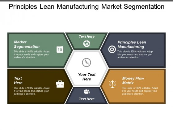 Principles Lean Manufacturing Market Segmentation Money Flow Matrix Ppt PowerPoint Presentation Outline Graphic Images