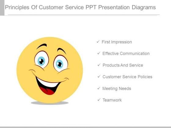 Principles Of Customer Service Ppt Presentation Diagrams