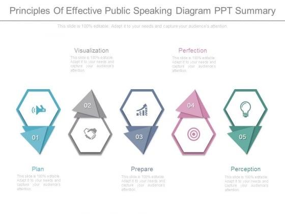Principles Of Effective Public Speaking Diagram Ppt Summary