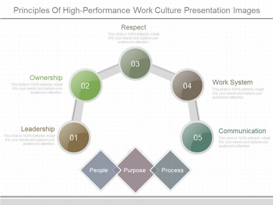 Principles Of High Performance Work Culture Presentation Images