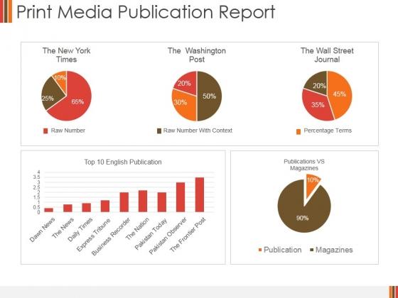 Print Media Publication Report Ppt PowerPoint Presentation Portfolio Portrait
