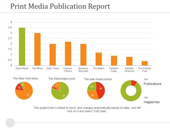 Print Media Publication Report Ppt PowerPoint Presentation Slides Files
