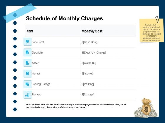 Printable_Rent_Receipt_Template_Schedule_Of_Monthly_Charges_Ppt_Pictures_Vector_PDF_Slide_1