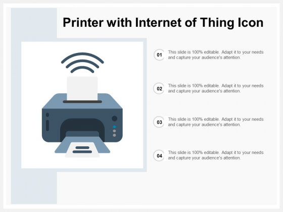 Printer With Wireless Connection Vector Icon Ppt PowerPoint Presentation Outline Visual Aids