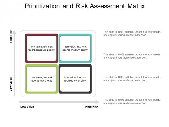 Prioritization And Risk Assessment Matrix Ppt PowerPoint Presentation Show Graphic Tips