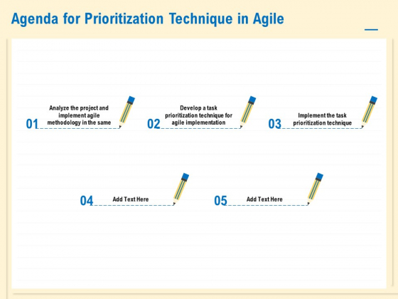 Prioritization Techniques For Software Development And Testing Agenda For Prioritization Technique In Agile Icons PDF