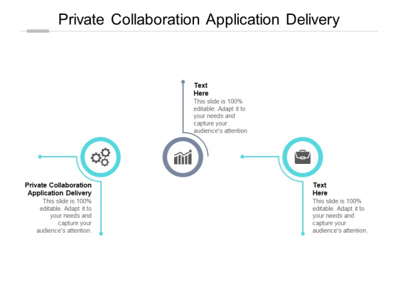 Private Collaboration Application Delivery Ppt PowerPoint Presentation File Sample Cpb Pdf