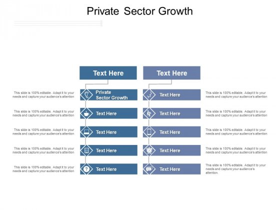 Private Sector Growth Ppt PowerPoint Presentation Model Gallery Cpb Pdf