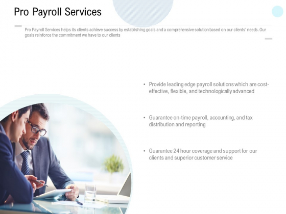 Pro Payroll Services Ppt PowerPoint Presentation Professional Infographic Template