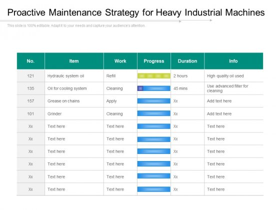 Proactive Maintenance Strategy For Heavy Industrial Machines Ppt PowerPoint Presentation Gallery Example File PDF