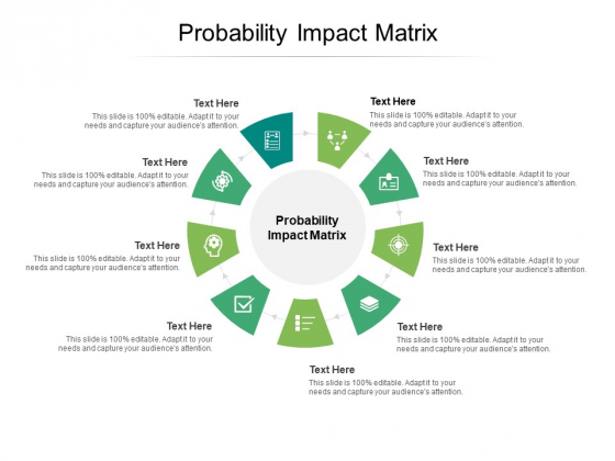 Probability Impact Matrix Ppt PowerPoint Presentation Layouts Icons Cpb