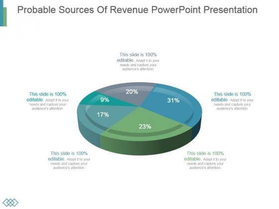 Probable Sources Of Revenue Powerpoint Presentation