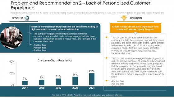 Problem And Recommendation 2 Lack Of Personalized Customer Experience Designs PDF